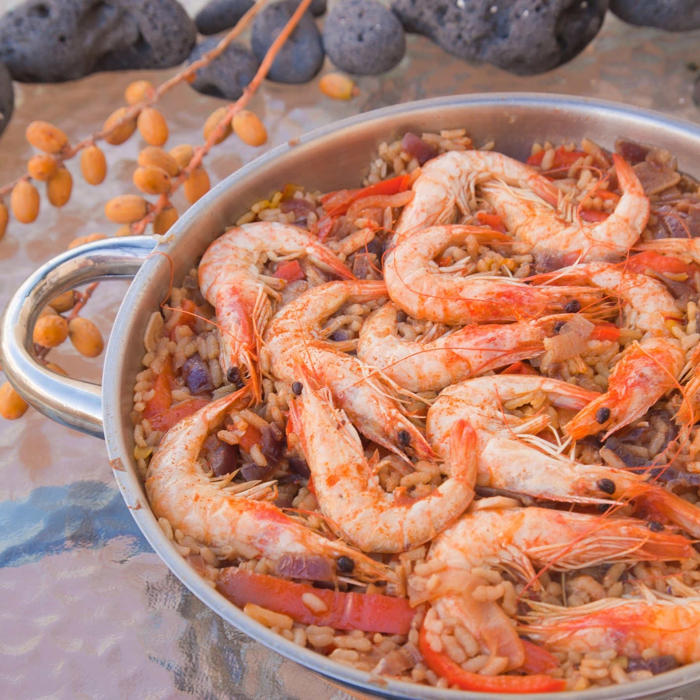 Seafood paella - culinary arts